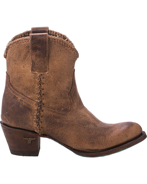 Lane Women's Plain Jane Distressed Brown Ankle Boots - Round Toe, Brown, hi-res