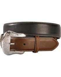 Nocona Concho Billet Leather Belt, , hi-res