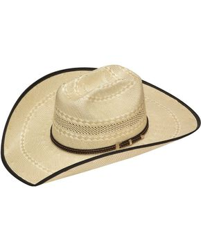 Twister 20X Shantung Truman Bound Edge Straw Cowboy Hat, Tan, hi-res