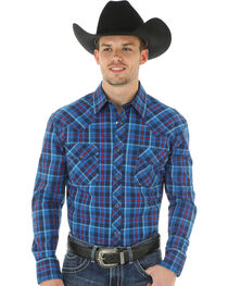 Wrangler 20X Advanced Comfort Plaid Long Sleeve Shirt, , hi-res