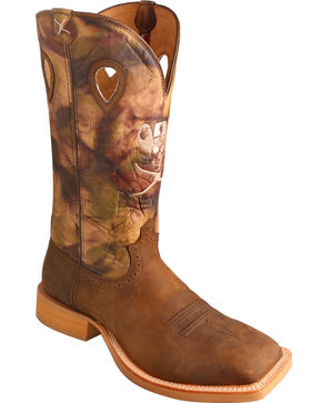 Twisted X Men's Ruff Stock Square Toe Western Boots, Crazyhorse, hi-res