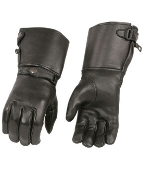 Milwaukee Leather Men's Deerskin Thermal Lined Gauntlet Gloves - 3X, Black, hi-res