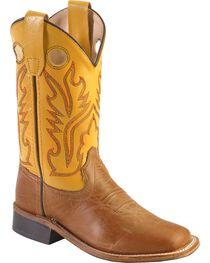 Jama Children's Broad Square Toe Western Boots, , hi-res