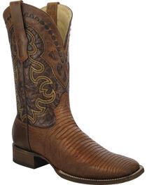Corral Men's Lizard Square Toe Exotic Boots, , hi-res