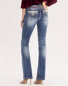 Miss Me Women's Blue Aztec Glitz Pocket Jeans - Boot Cut , Blue, hi-res