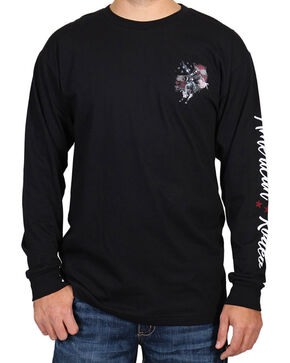 Cody James® Men's American Rodeo Long Sleeve Shirt, Black, hi-res
