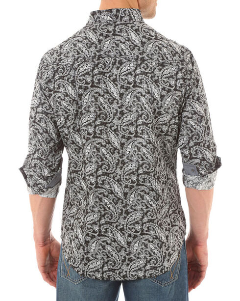 Wrangler Retro Men's Paisley Long Sleeve Shirt, Black, hi-res