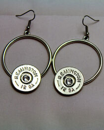 SouthLife Supply Women's Florence Circle Dangle Shotshell Earring in Traditional Silver with Crystal, , hi-res