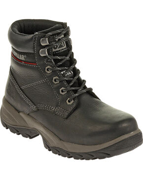 "Caterpillar Women's Dryverse 6"" Waterproof Work Boots - Steel Toe, Black, hi-res"