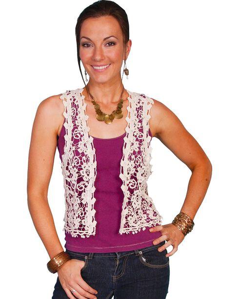 Scully Women's Crochet Vest, Natural, hi-res