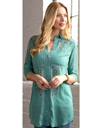 Ryan Michael Women's Embroidered Tunic, , hi-res