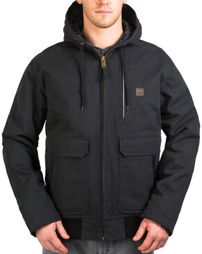 Walls Men's Blizzard Pruf Insulated Hooded Jacket, Jet Black, hi-res