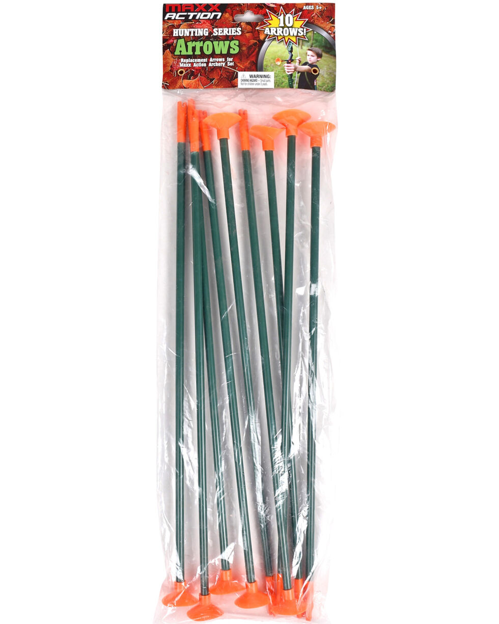 Maxx Action Hunting Series Arrows Refill 10 Pack, Green, hi-res