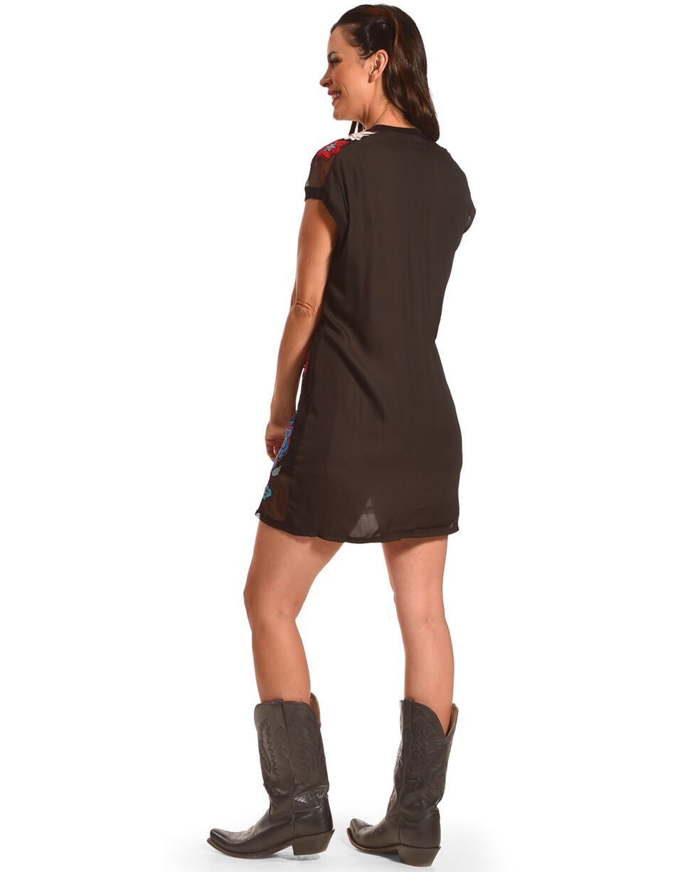 Johnny Was Women's Black Teesha Mesh Tunic Dress, Black, hi-res