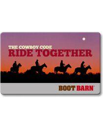 Boot Barn® The Cowboy Code Gift Card, , hi-res
