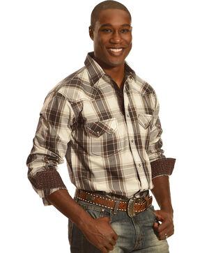 Crazy Cowboy Men's Multi Plaid Long Sleeve Shirt, Multi, hi-res