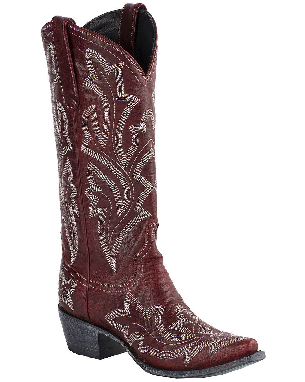 Lane Women's Saratoga Red Cowgirl Boots - Snip Toe, Red, hi-res
