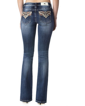 Miss Me Women's Wish You Well Mid-Rise Boot Cut Jeans  , Indigo, hi-res