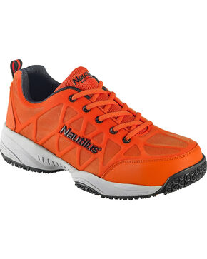 Nautilus Men's Orange Athletic Work Shoes - Composite Toe , Orange, hi-res