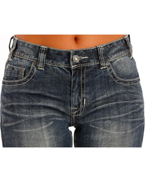 Rock & Roll Cowgirl Indigo Boyfriend Jeans - Boot Cut , Indigo, hi-res