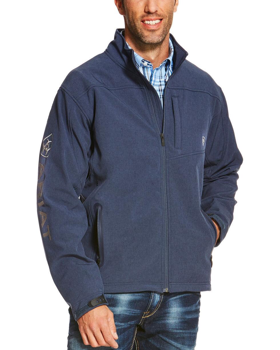 Ariat Men's Indigo Softshell Logo Jacket, Indigo, hi-res