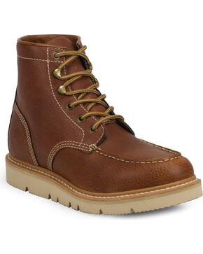 Justin Men's Jacknife Moc Toe Work Boots, Tan, hi-res
