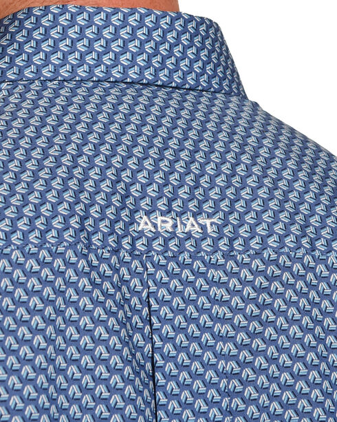 Ariat Men's Kirk Wrinkle Free Long Sleeve Button Down Shirt, Blue, hi-res