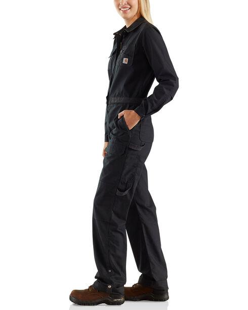 Carhartt Women's Black Smithville Coveralls , Black, hi-res