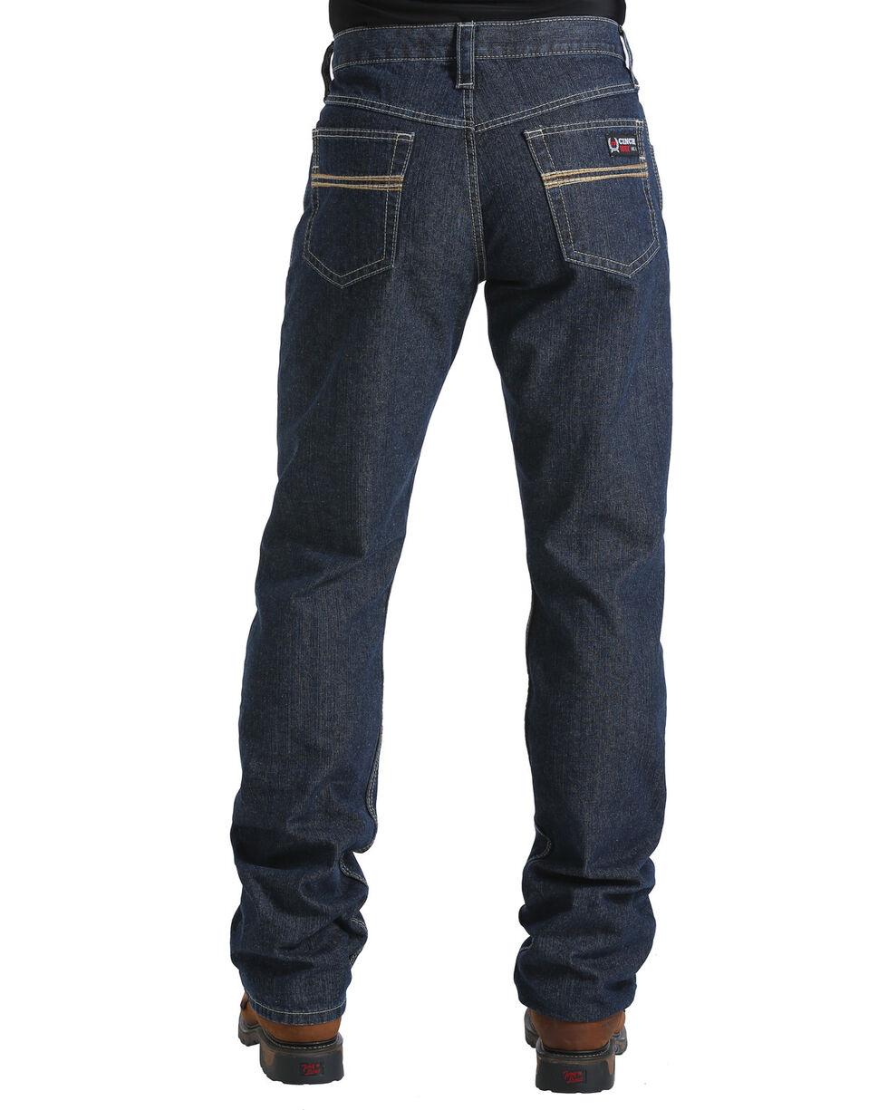 Cinch Men's Flame Resistant Jeans, Dark Blue, hi-res