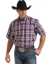 Cinch Men's Multi Plaid One Pocket Short Sleeve Shirt, Multi, hi-res