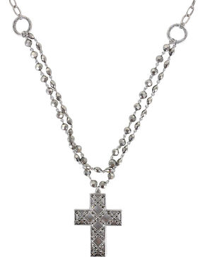 Shyanne® Women's Cross Necklace, Silver, hi-res