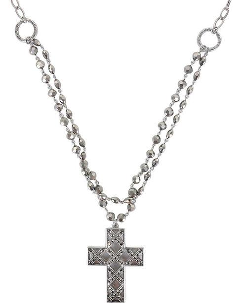 Shyanne® Women's Cross Necklace, Silver, hi-res