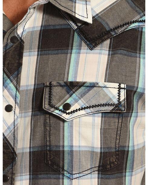 Moonshine Spirit Plaid Short Sleeve Western Shirt, Multi, hi-res