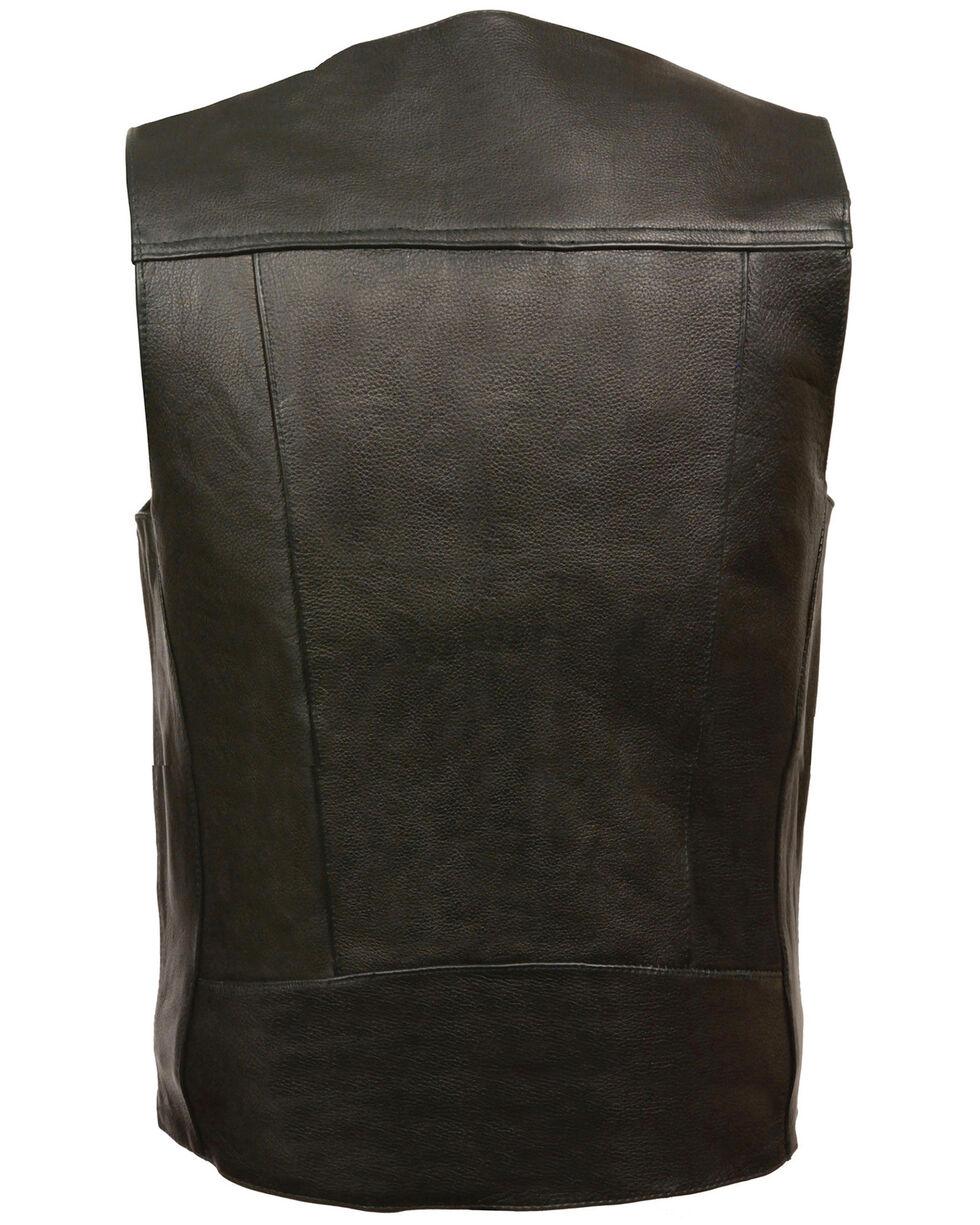 Milwaukee Leather Men's Buffalo Nickel Snap Classic Vest, Black, hi-res