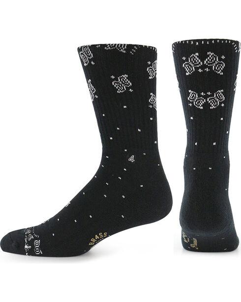 BR4SS Men's Paisley Print Premium Socks, , hi-res