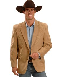 Circle S Men's Embroidered Microsuede Sport Coat, , hi-res