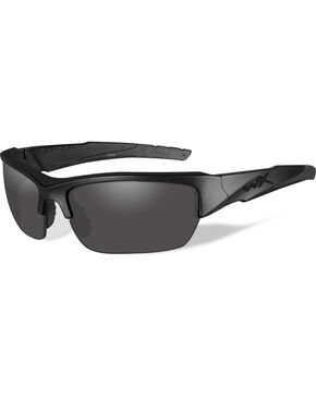 Wiley X Black Ops Valor Polarized Grey Matte Black Sunglasses   , Black, hi-res