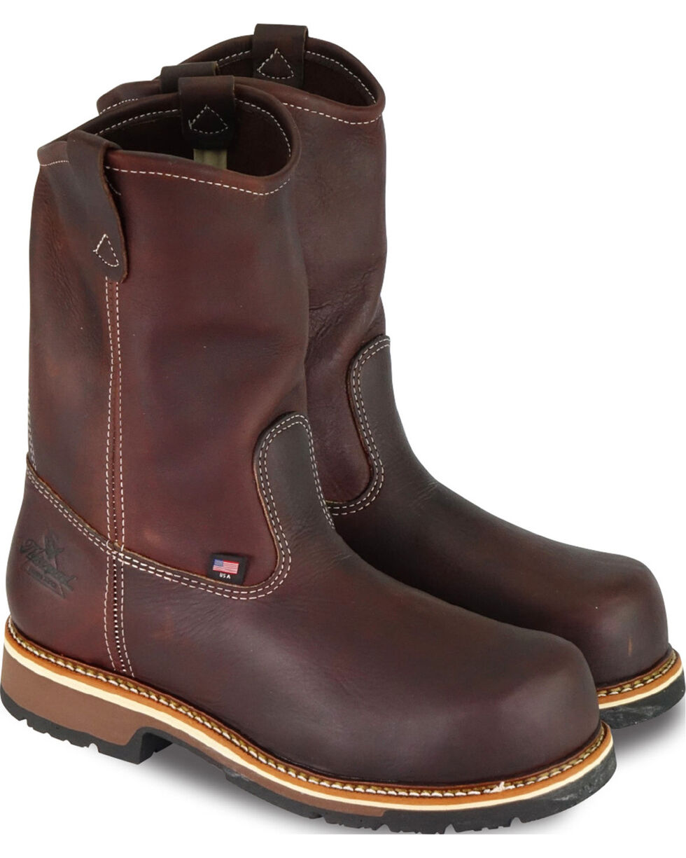 Thorogood Men's American Heritage Emperor Wellington Work Boots - Composite Toe, Dark Brown, hi-res