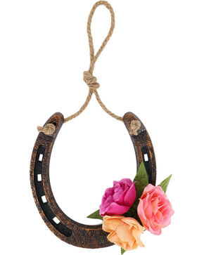 BB Ranch®  Floral Horseshoe Wall Decor, No Color, hi-res