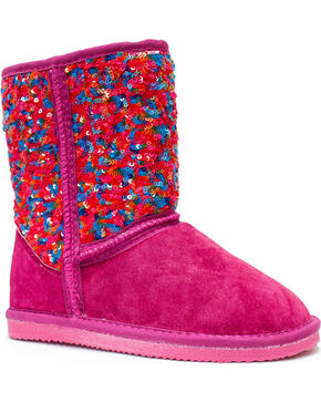 Lamo Footwear Girl's Sequin Pattern Boots , Multi, hi-res