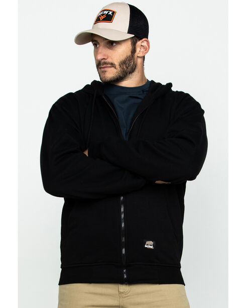 Berne Men's Original Hooded Sweatshirt, Black, hi-res