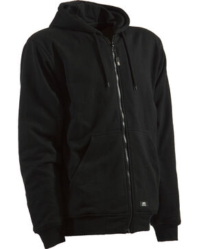 Berne Original Hooded Sweatshirt - 5XT and 6XT, Black, hi-res