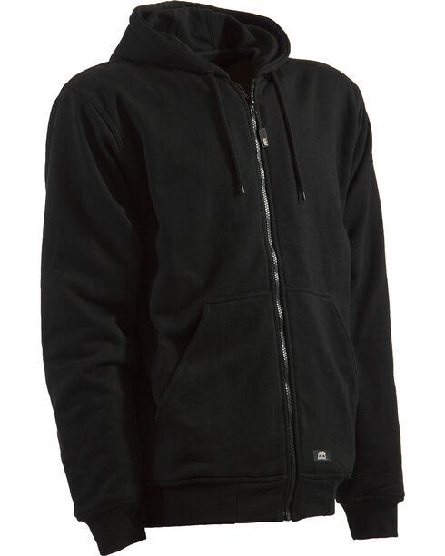 Berne Original Hooded Sweatshirt - 5XT and 6XT, Black, hi-res