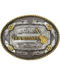 Cody James® Oval Dual-Tone Tennessee Buckle, , hi-res