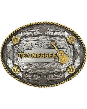 Cody James® Oval Dual-Tone Tennessee Buckle, No Color, hi-res