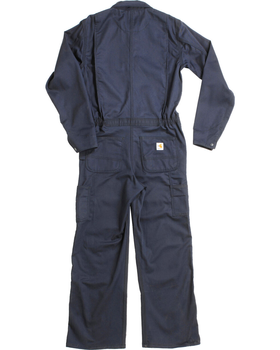 Carhartt Flame Resistant Twill Coverall, Navy, hi-res