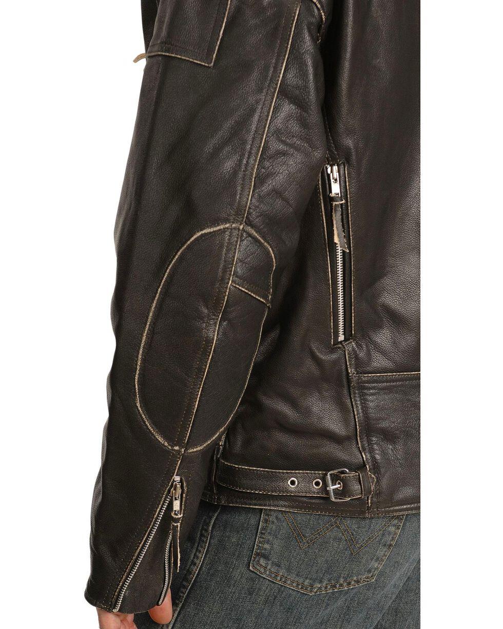 Interstate Leather Men's Gangster Motorcycle Jacket, , hi-res