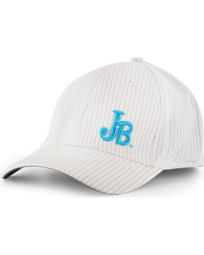 Justin Men's Pin Stripe Flex Ball Cap, White, hi-res