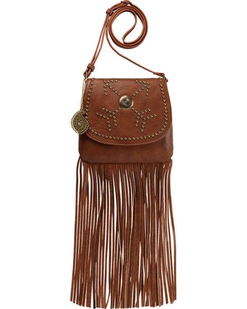 Bandana by American West Women's Austin Fringe Flap Bag With Wallet, Brown, hi-res