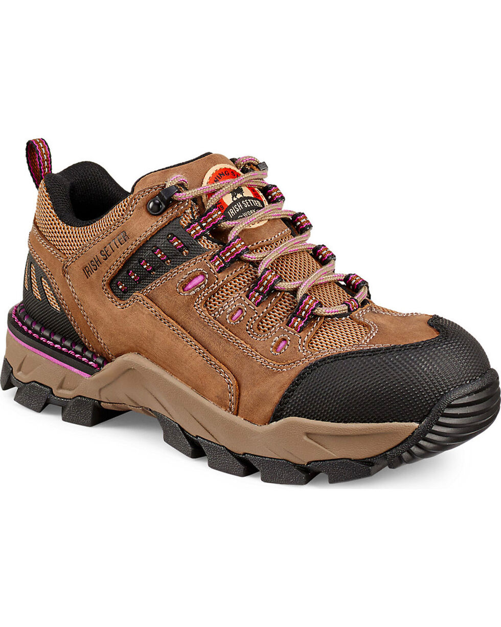 Irish Setter by Red Wing Shoes Women's Irish Setter Two Harbors Hiker Work Oxfords - Aluminum Toe, Brown, hi-res